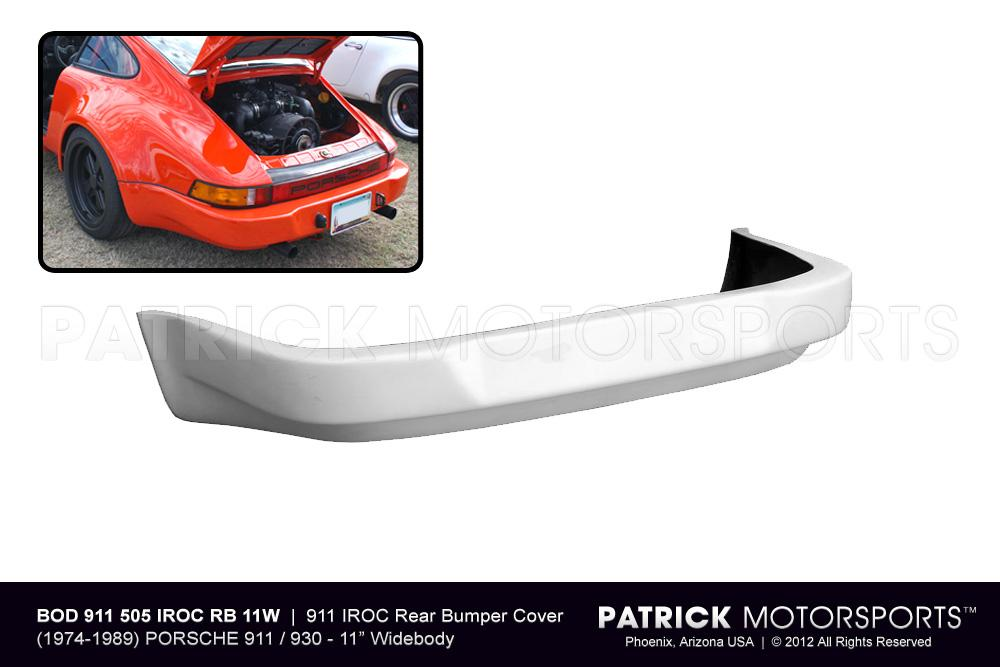 911 IROC / RSR Rear Bumper Cover - (1974-1993) 911 / 930 Turbo with 11 Inch (Wide Body) Rear Flares