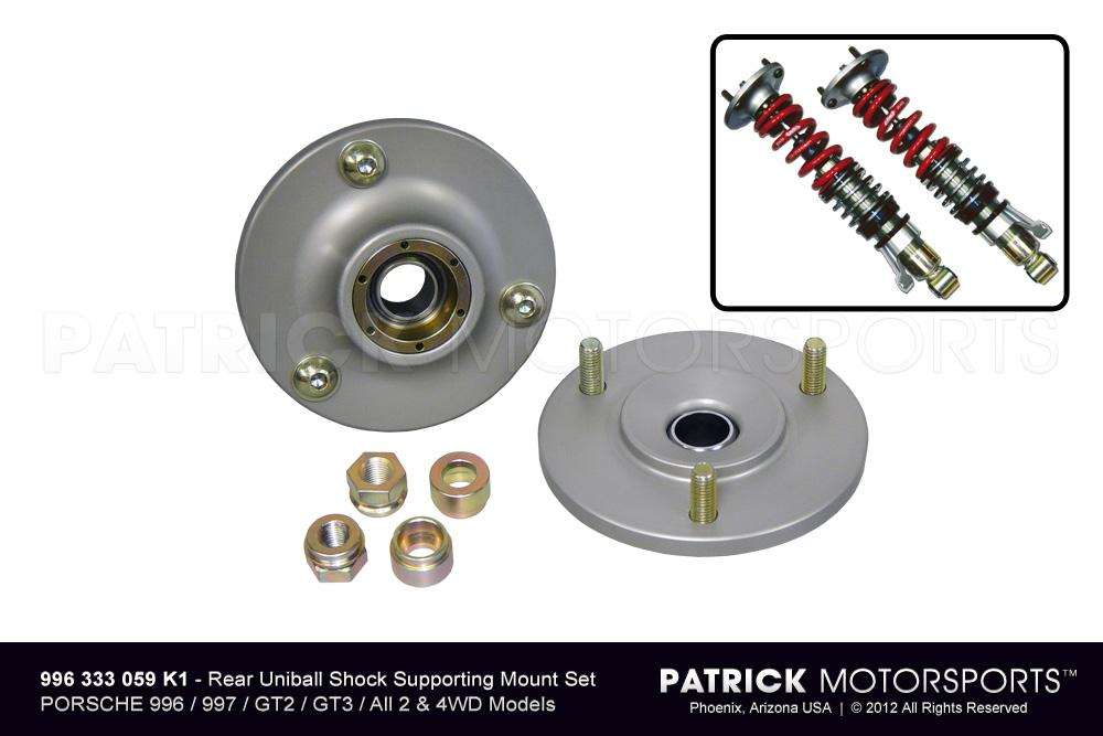 Monoball Rear Upper Shock Supporting Mount Set - 996 / 997 / GT2 / GT3 / All 2WD & 4WD