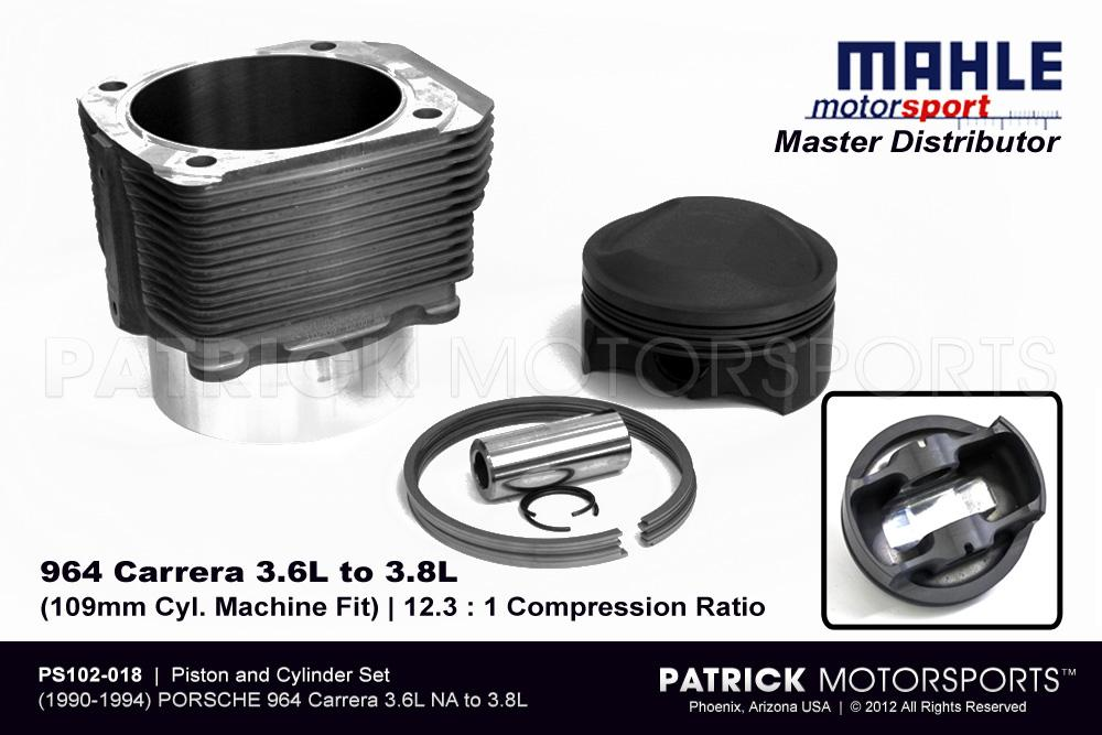 Piston & Cylinder Set - 964 3.6L to 3.8L NA | Machine Fit Mahle Motorsports
