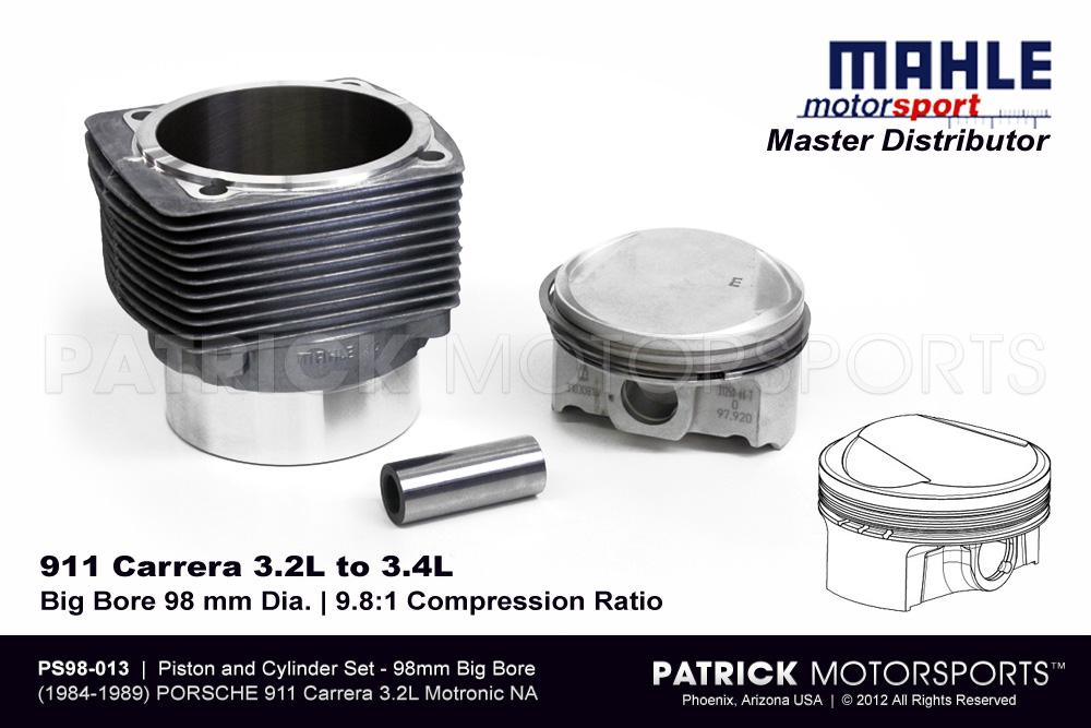 Piston & Cylinder Set - 911 Carrera 3.2L to 3.4L Mahle Motorsports