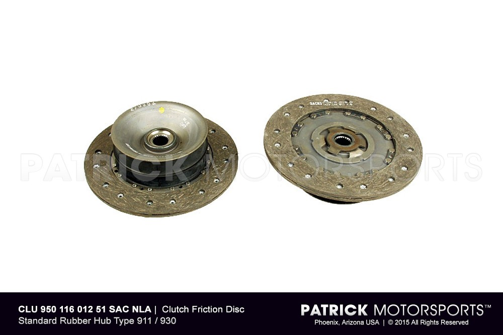 Clutch Friction Disc - Standard Rubber Hub Type 911 / 930
