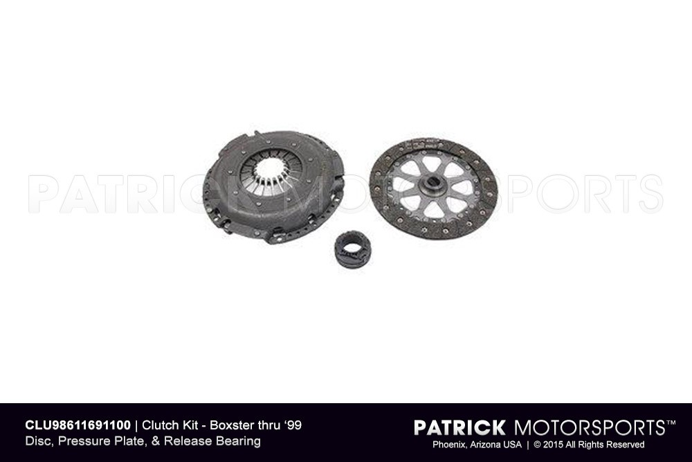 Boxster Clutch Disc, Pressure Plate, & Release Bearing