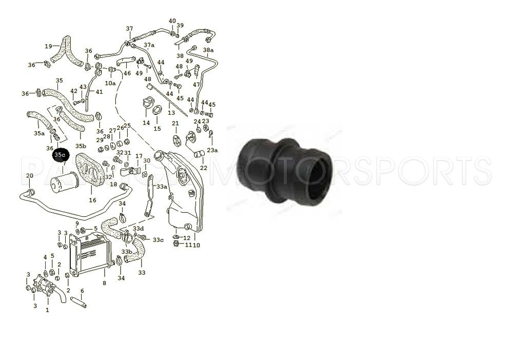 Connecting Piece for Oil Tank Breather Hose