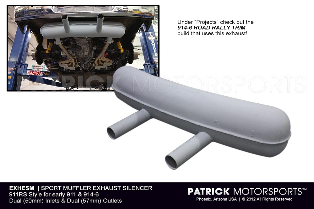 Sport Muffler Exhaust Silencer - 911RS - 914 6