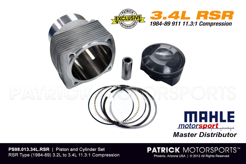 MAHLE Piston & Cylinder Set 11.3:1 High Comp (1984-89) 3.2L to 3.4L RSR Type