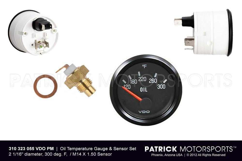 Oil Temperature Gauge & Sensor Set - Engine - Transmission M14x1.50
