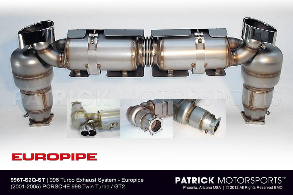 Europipe 996 Turbo Exhaust System - Stage 2 - Quieter Version