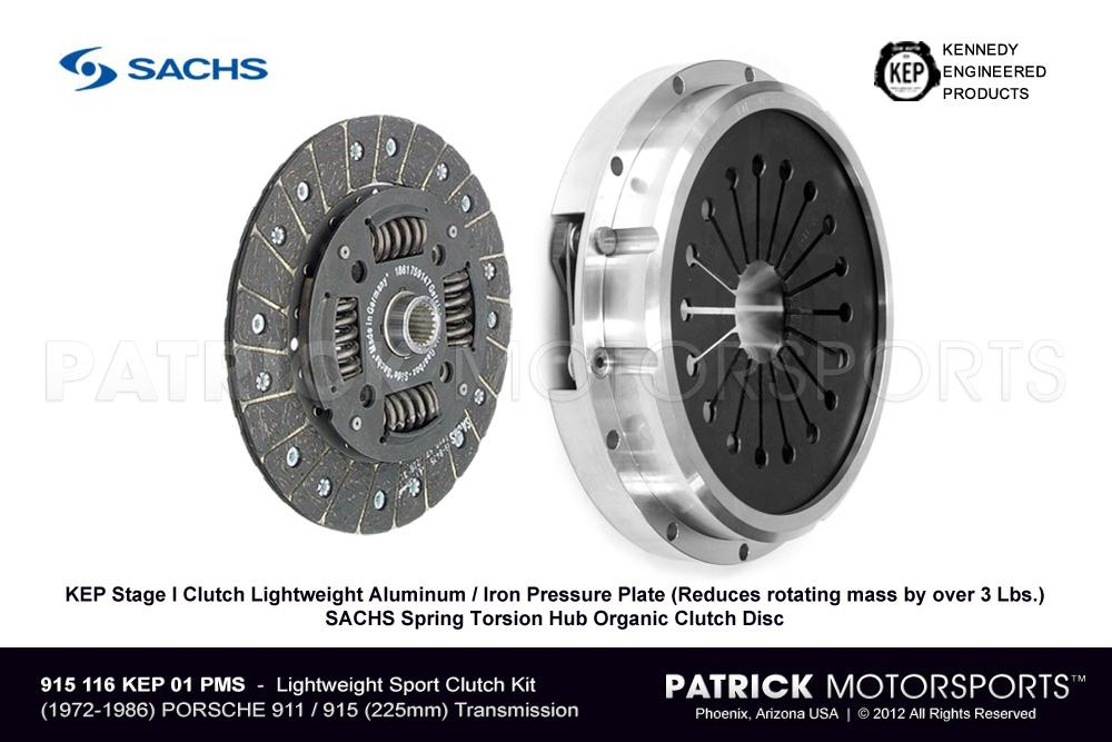 911 - 915 Lightweight Clutch Set - KEP HD Stage 1 Aluminum / Iron Street Sport (225mm)