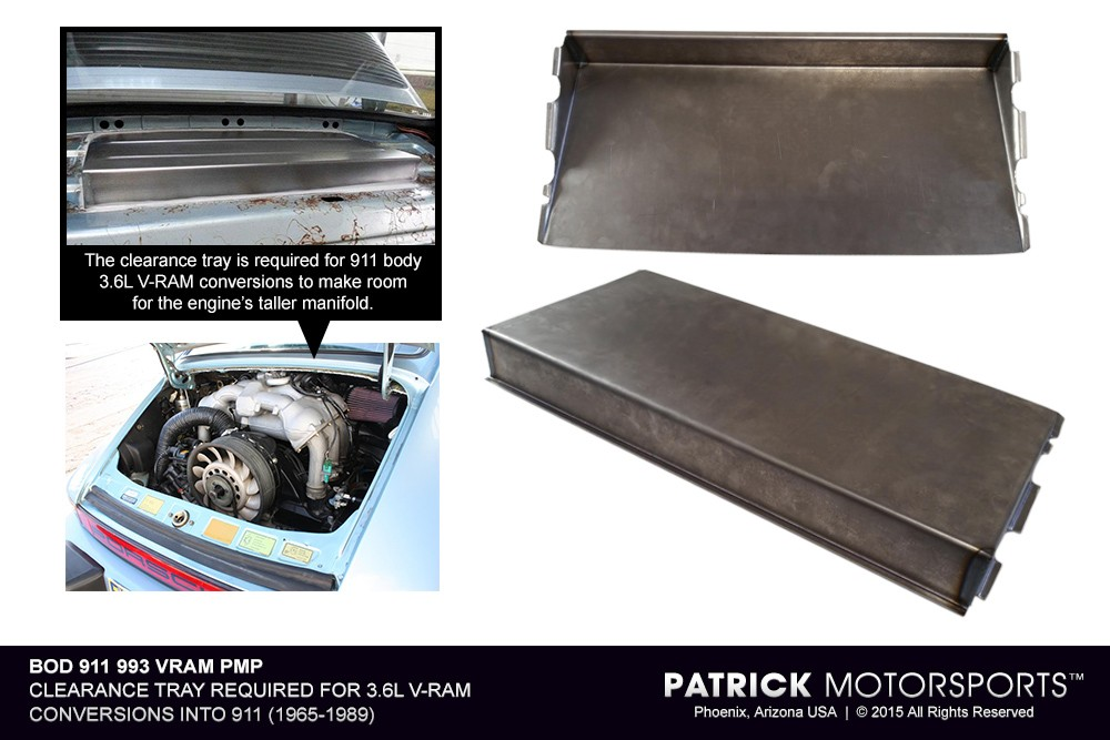 911 3.6L V-RAM Conversion Clearance Tray