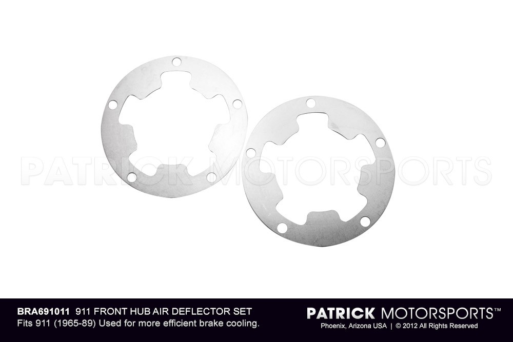 911 FRONT HUB AIR DEFLECTOR SET