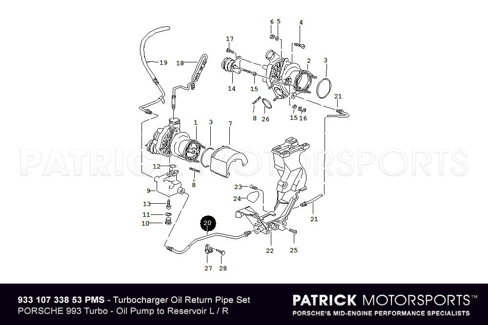 Turbocharger Oil Return Pipe Set Left Right Porsche 993 Turbo: Porsche 993 Turbo Wiring Diagram At Hrqsolutions.co