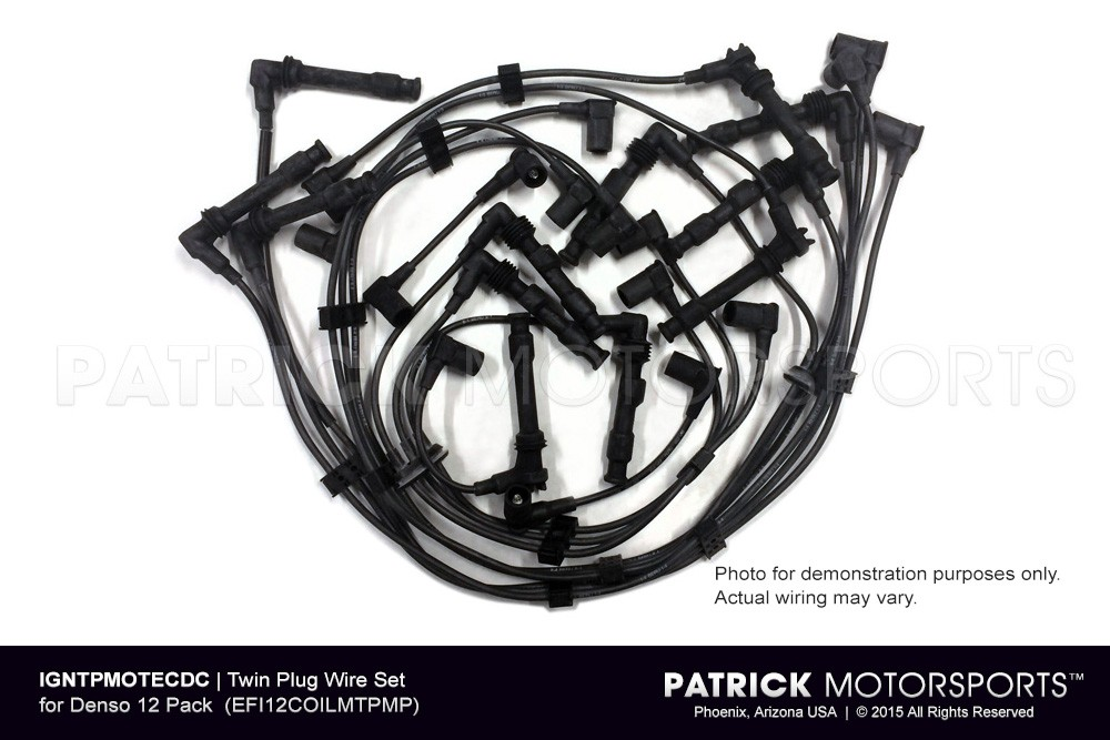TWIN PLUG WIRE SET FOR DENSO 12 PACK