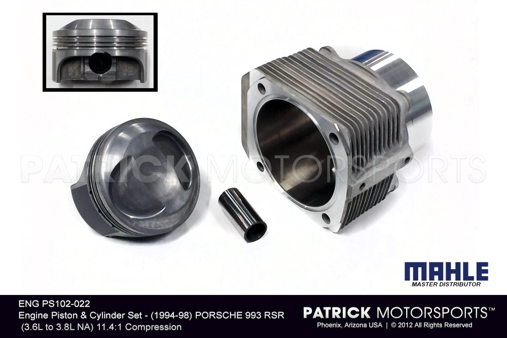 Engine Piston & Cylinder Set - PORSCHE 993 RSR (3.6L to 3.8L NA)