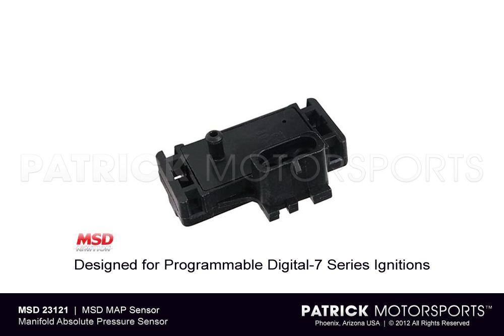 MAP Sensor - Designed for Programmable Digital-7 Series Ignitions - MSD IGNITIONS