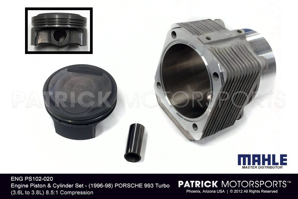 Engine Piston & Cylinder Set - PORSCHE 993 Turbo (3.6L to 3.8L) - Slip Fit