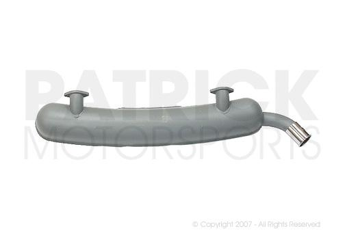 Exhaust Muffler - (1974) PORSCHE 911 / 2.7L - Grey Painted Stainless Steel