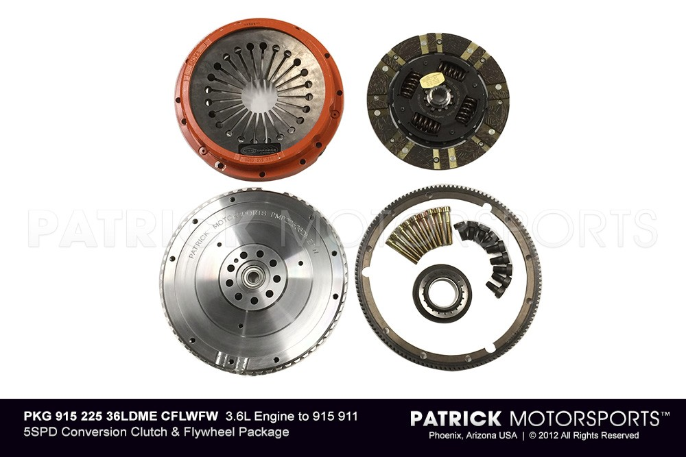964/993 3.6L DME 225mm to 915 5SPD Conversion Clutch & Flywheel PKG