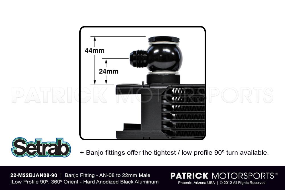Banjo Fitting - AN-08 - Low Profile 90º