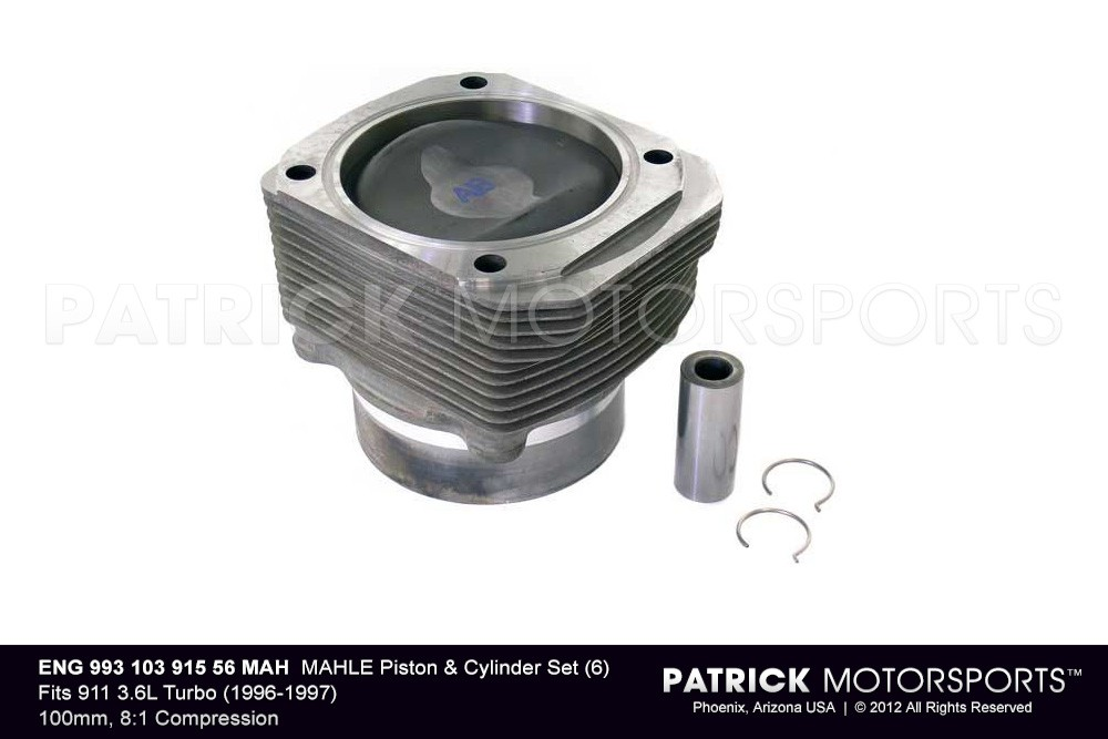 MAHLE​ Piston & Cylinder Set (6) 993 Turbo 3.6L GT2 (1996-97)