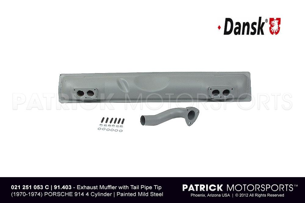 Exhaust Silencer Muffler - 914-4