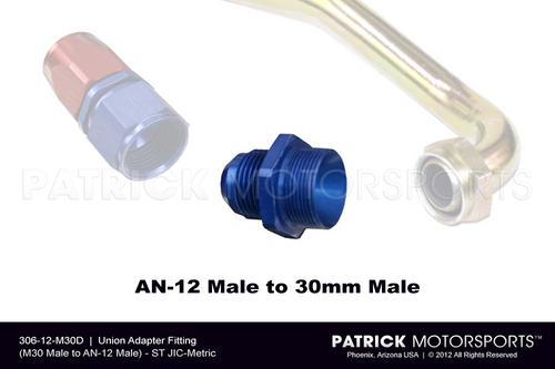 Union Adapter Fitting (M30 Male to AN-12 Male)