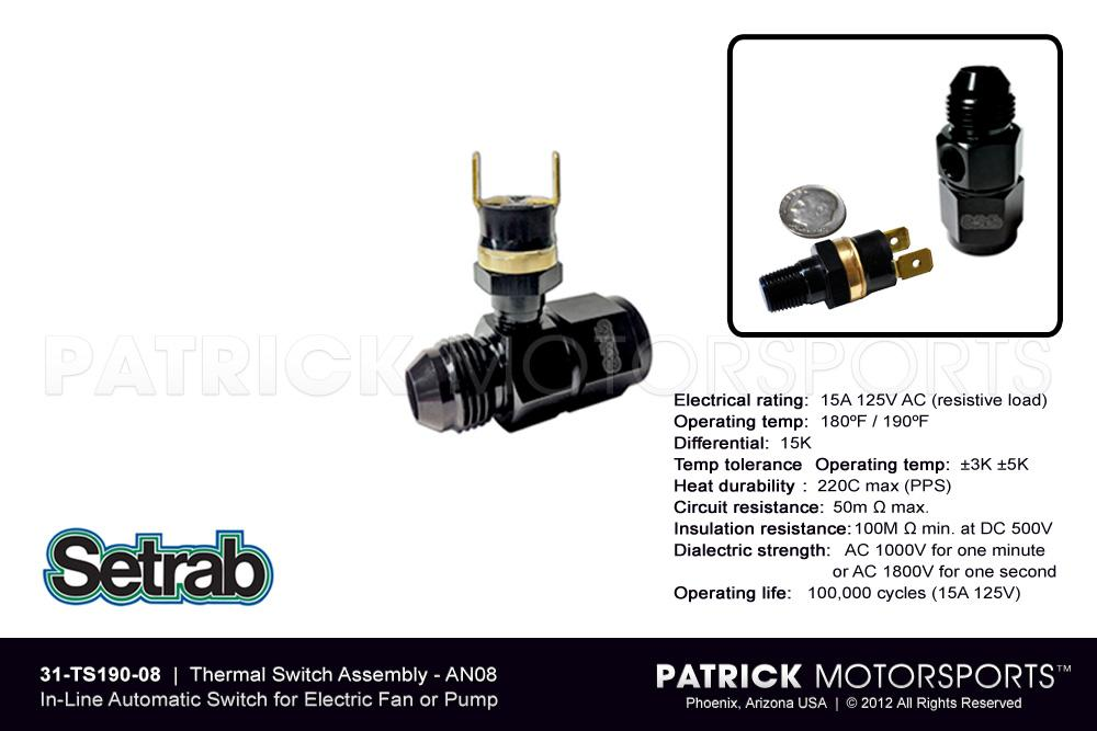 In-Line Thermal Switch Assembly AN08