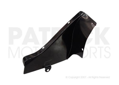 Hot Air Socket Heater Block Off Cover Plate - Left Side Engine Fan Shroud Behind Ignition Distributor