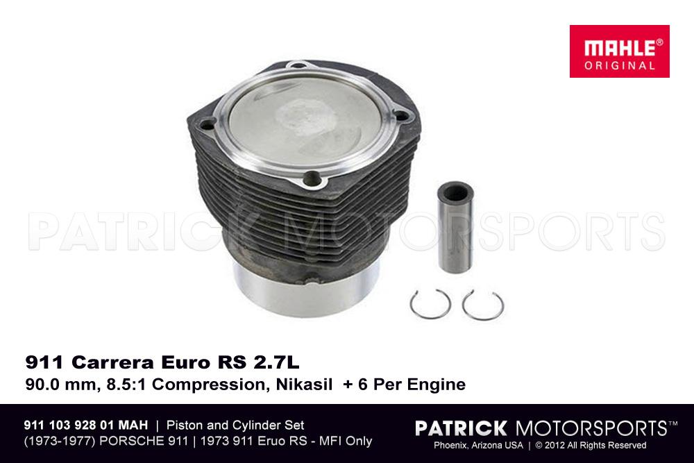 Piston and Cylinder Set (Euro RS 2.7 Liter, 90.0 mm, 8.5:1 Compression, Nikasil)