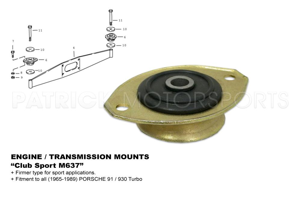 Engine Mount - 911 -930 Club Sport M637