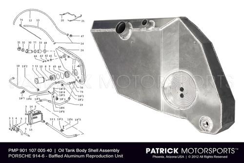 914-6 Engine Oil Tank Body Shell Assembly - Reproduction Dry Sump Conversion