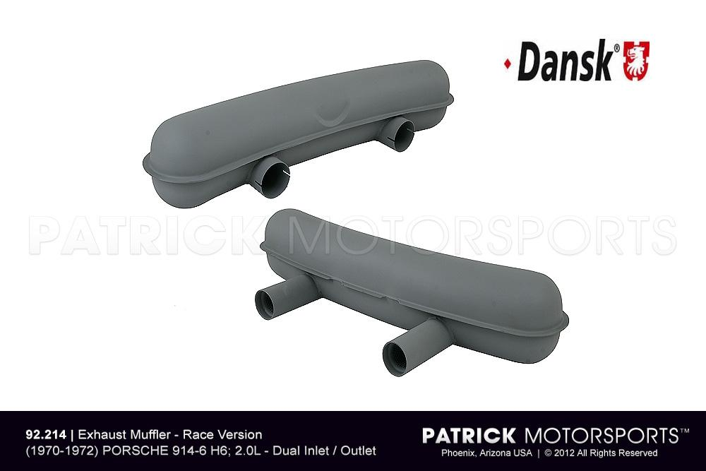 Exhaust Silencer Muffler - Race Version - 914-6