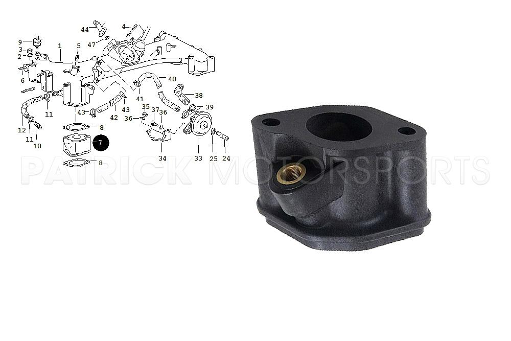 Engine Fuel Injector Block Flange 911 Turbo / 930 / 965