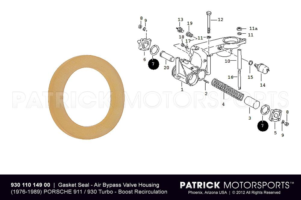 Gasket Seal - Turbo Air Bypass Valve Housing - 911 / 930 / 924 Turbo