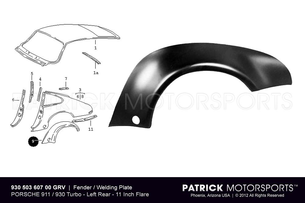 Fender Flare / Welding Plate - Rear Left - 911 / 930 Turbo
