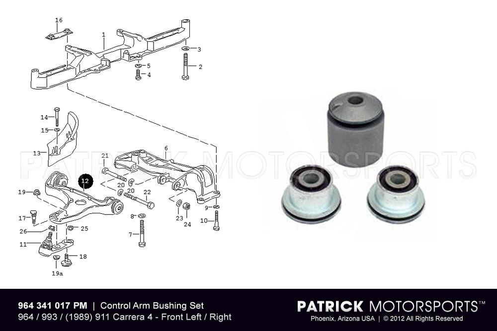 964 - 993 Front Control Arm Bushing Set