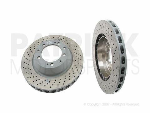 Brake Disc Rotor - Rear Left - PORSCHE (1996-1998) 993 Carrera 4 S / Turbo