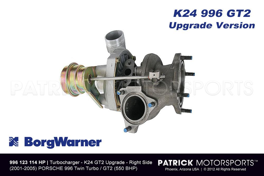 Turbocharger Borg Warner K24 911 / 996 / GT2 Turbo Right