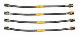 BRAKE LINE SET - STAINLESS STEEL BRAIDED - PORSCHE 933