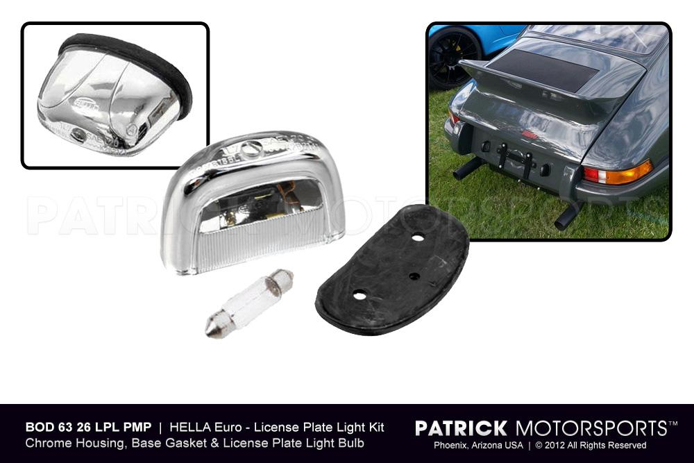 License Plate Light Kit - Retro Euro Style HELLA