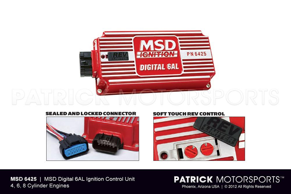 MSD Digital 6AL 6425 Ignition Control, with Adjustable Rev Limiter