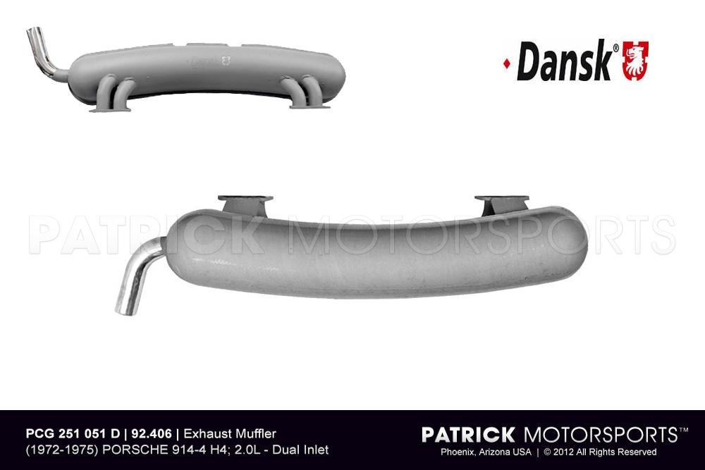 Exhaust Silencer Muffler 914-4 2.0L