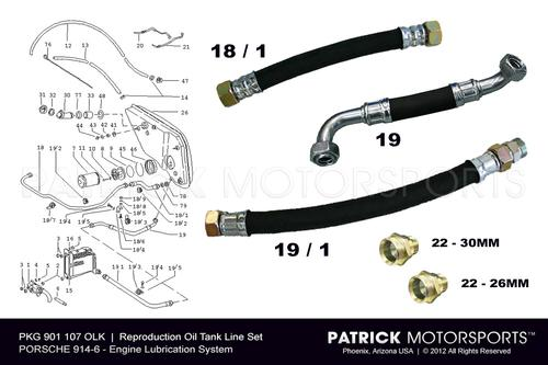 914 6 Engine Oil Tank Line Set