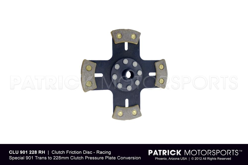 Clutch Friction Disc - Racing Metallic - Solid Hub - 901 to 228mm