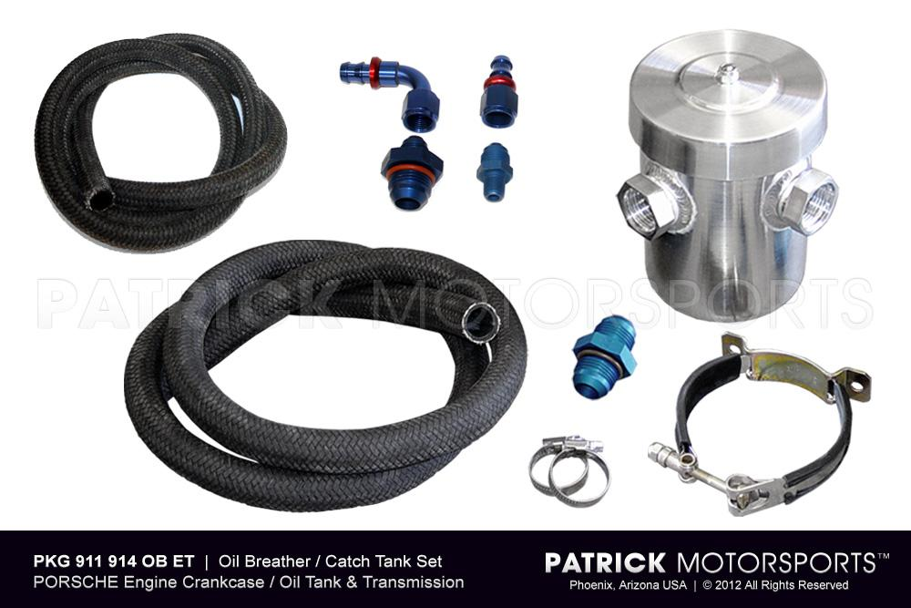 Oil Breather Catch Tank Set for Engine Crankcase and Transmission