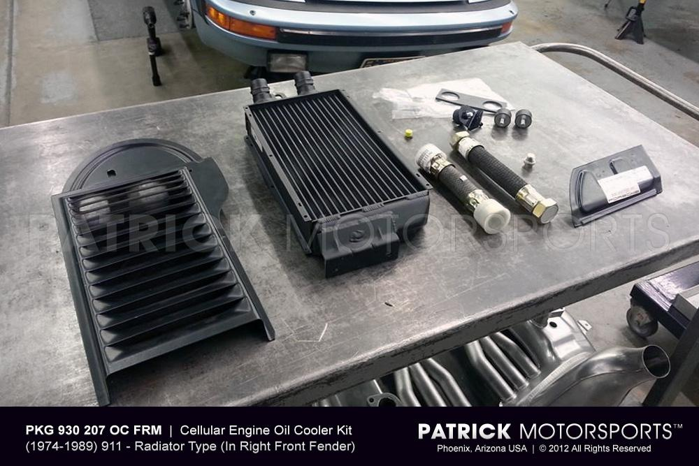 911 Turbo Carrera - 930 Front Right Side Mount Oil Cooler Update Kit