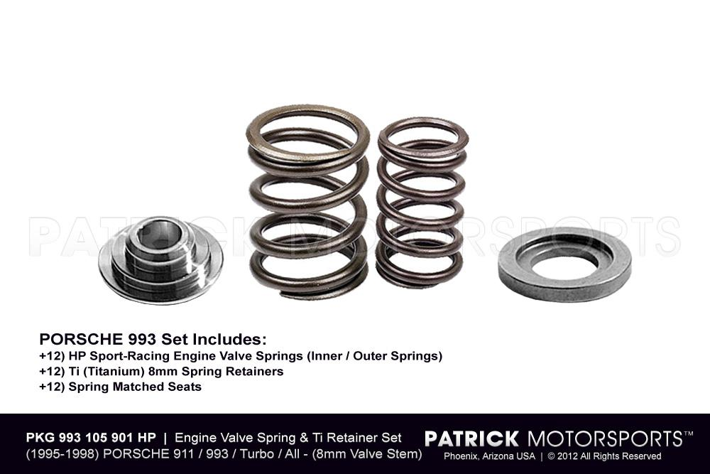 Engine Valve Spring & Ti Retainer Set HP 8mm - 993