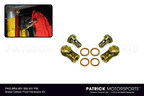 Brake Caliper Fluid Delivery Hardware Adapter Kit