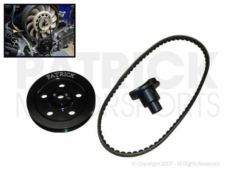 911 - 930 - 914 Single Belt Engine Crankshaft Pulley & Fan Drive Set to 964 3.6L Engine Crank Conversion