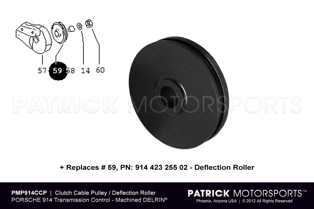 Clutch Cable Pulley Deflection Roller - (1970-1976) PORSCHE 914