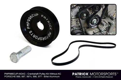 Engine Crank Shaft Pulley Kit - 996 997 986 987 - (For cars with no AC)